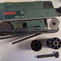 Download free STL file Bosch PBS 75A Sander / Roller Replacement Part / Fix • 3D printer design, peaberry
