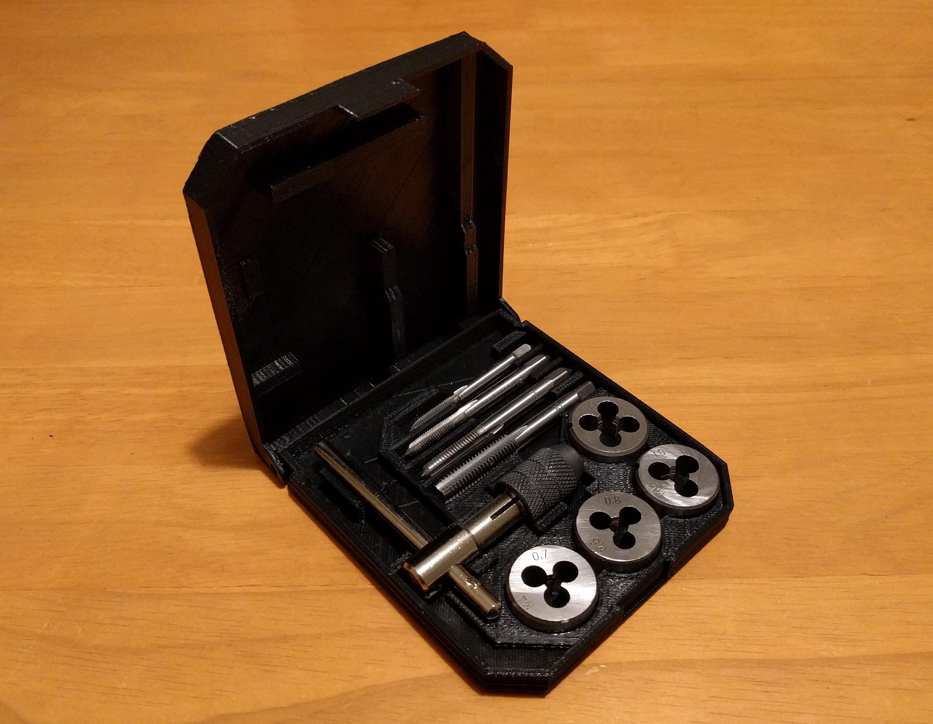 tap_die_case_01.jpg Download free STL file Tap & Die Hinged Case • Model to 3D print, peaberry
