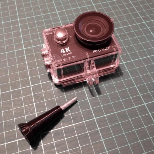 acam_screw01.png Télécharger fichier STL gratuit Vis de pouce / GoPro / Caméra d'action • Design pour imprimante 3D, peaberry