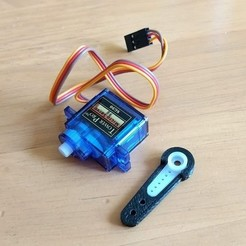 Download free 3D printer files Micro 9g Servo Arm Extender, peaberry