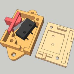 Télécharger fichier STL gratuit Interrupteur à glissière utilisant un microcontact de 20 mm • Design pour impression 3D, peaberry
