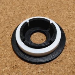 Download free STL file Spacer for Filament Spool Adaptor • 3D printing object, peaberry