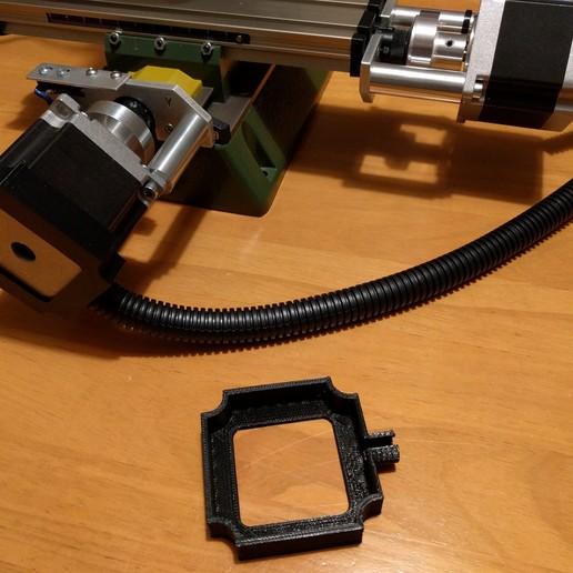 nema_23_cap2_01.jpg Télécharger fichier STL gratuit Capuchon NEMA 23 pour conduit de câble / gaine de 16 mm • Design pour impression 3D, peaberry