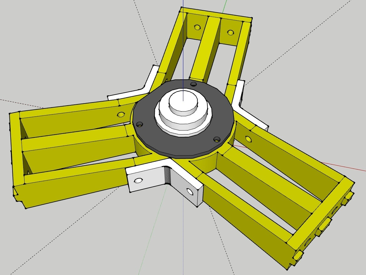 kossel_spool_support_01.jpg Download free STL file Kossel Spool Top Mount for HDD Bearing • 3D printer template, peaberry