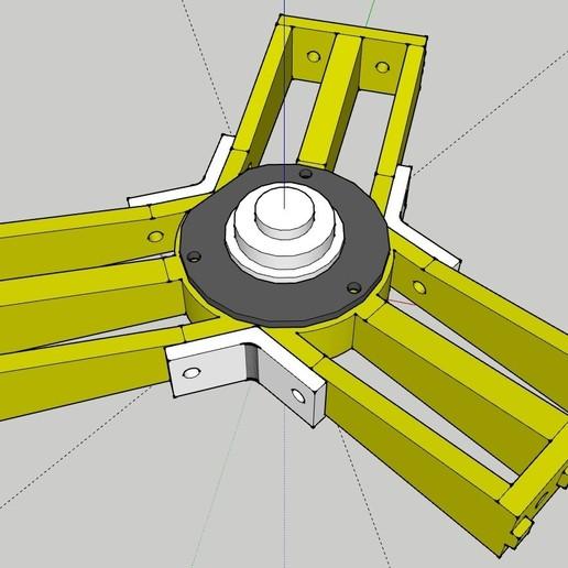 kossel_spool_support_01.jpg Télécharger fichier STL gratuit Kossel Spool Top Mount pour le roulement des disques durs • Objet imprimable en 3D, peaberry