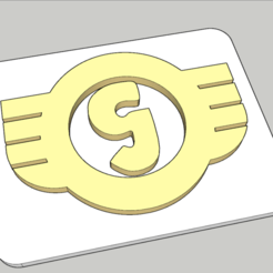 "Download free 3D printer files Goggomobil ""G"" Logo / Hans Glas GmbH, peaberry"