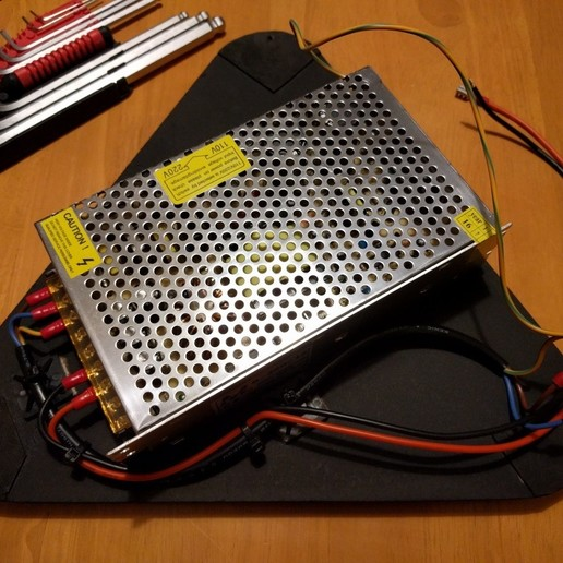 kossel_base_psu.jpg Download free STL file Kossel Base Stand • Template to 3D print, peaberry