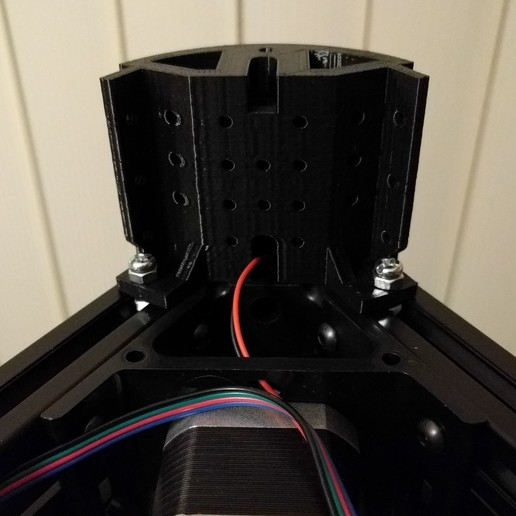kossel_base_stand_01_fitted.jpg Download free STL file Kossel Base Stand • Template to 3D print, peaberry