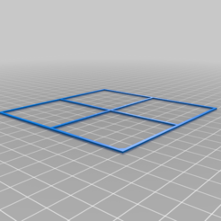 Download free STL file Calibration / Levelling Square / 100mm • 3D print model, peaberry
