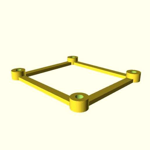 Download free 3D printer files Customizable PCB Spacer Rectangle, peaberry