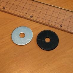 """penny_washer_32x8-25x1-6.jpg Télécharger fichier STL gratuit Rondelle en Penny 32 mm de diamètre extérieur 8,25 mm de diamètre intérieur 1,6 mm d'épaisseur (~1,25"""" de diamètre extérieur) • Objet à imprimer en 3D, peaberry"""