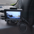 Download free STL file K1S Dashcam LCD Mount with Tilt Adjustment • 3D printing model, peaberry