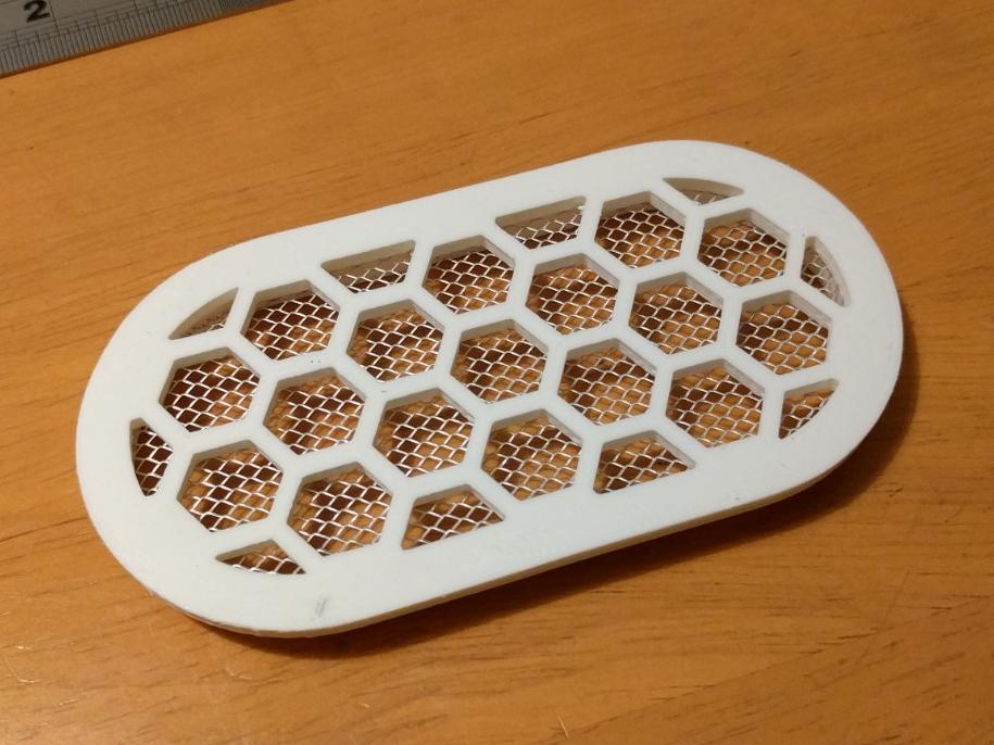 """vent1.png Télécharger fichier STL gratuit Grille de ventilation 100x50mm (4x2"""") • Objet imprimable en 3D, peaberry"""