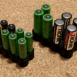 battery_box1.png Download free STL file AA / AAA Battery Holder / Box • 3D print design, peaberry
