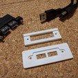 Télécharger fichier STL gratuit Double plaque USB / montage sur panneau • Plan pour imprimante 3D, peaberry