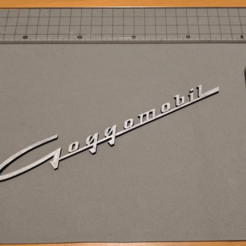 Download free 3D printing files Goggomobil Coupé Logo, peaberry