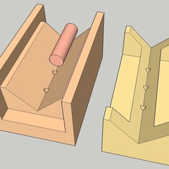 tube_centre_drill_jig_01.jpg Download free STL file Centre Drill Jig for Tubes / Round Bars • Object to 3D print, peaberry