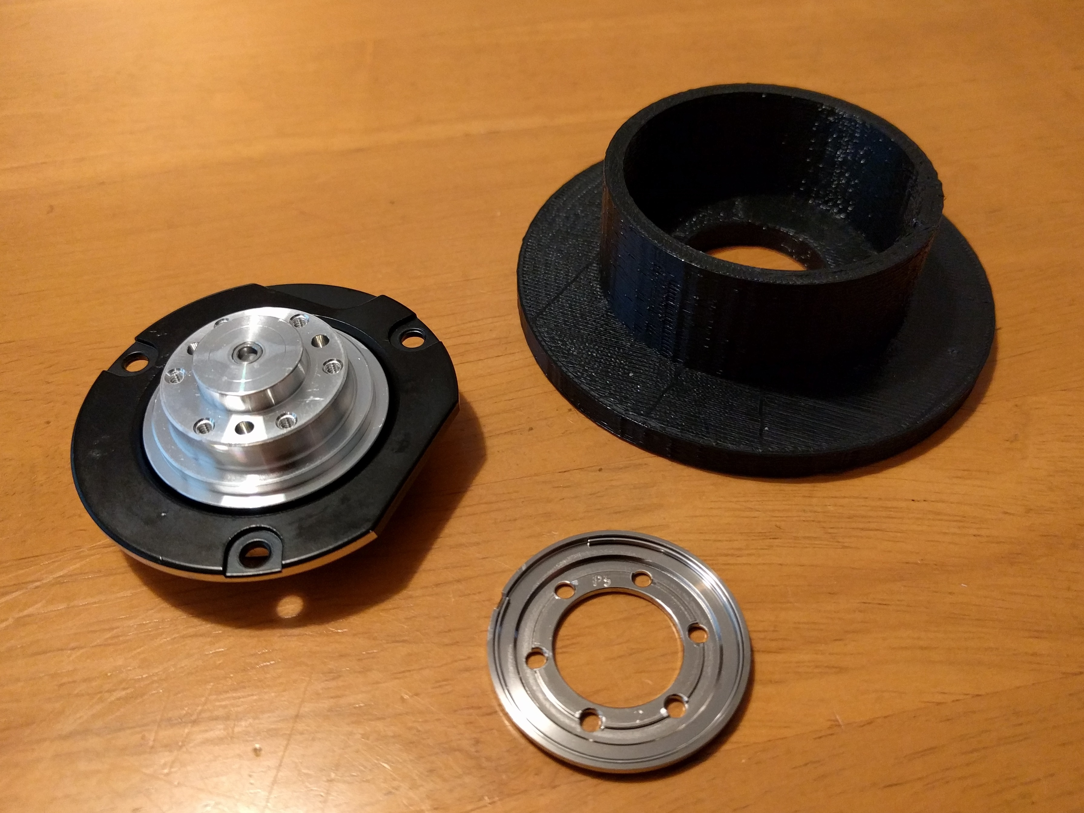 spool_to_hdd_01.jpg Download free STL file Filament Spool HDD Bearing Adaptor • 3D printable design, peaberry