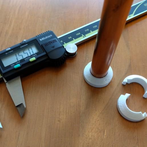 15mm_pipe_collar_01.jpg Télécharger fichier STL gratuit Garniture de collier de tuyau de 15 mm • Objet imprimable en 3D, peaberry