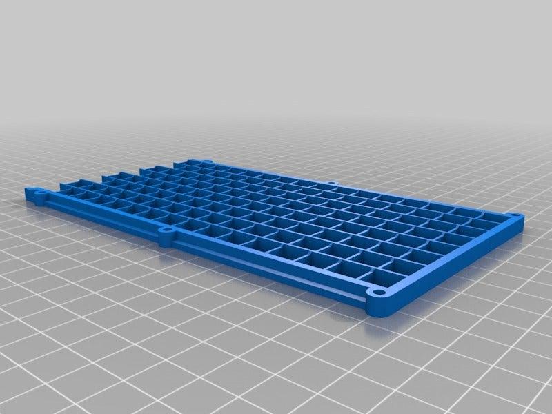 d1c1277d6d8296c1b70192a617d0b73a.png Télécharger fichier GCODE gratuit 32x8 LED Grille matricielle pour diffuseur • Design à imprimer en 3D, peaberry