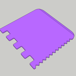 Download free STL file Tile Adhesive / Grout Spreader • 3D printable template, peaberry