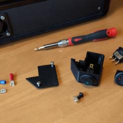 Télécharger fichier imprimante 3D gratuit Boîtier d'interrupteur à bascule pour l'extrusion 2020 / Interrupteurs 20mm, peaberry