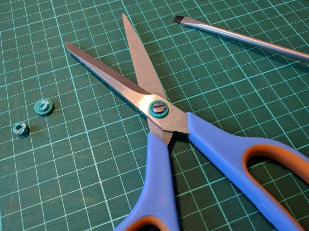 scissor02.jpg Télécharger fichier STL gratuit Pièce de réparation de ciseaux • Objet pour impression 3D, peaberry
