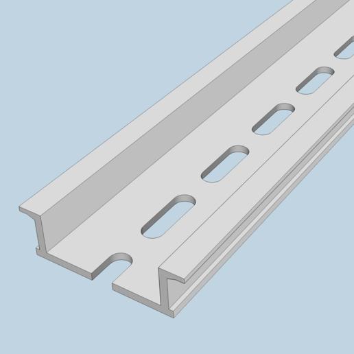 Télécharger fichier STL gratuit Rail DIN 35x10x100mm • Design à imprimer en 3D, peaberry