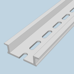 DIN_Rail_35x10x100.png Download free STL file DIN Rail 35x10x100mm • Object to 3D print, peaberry