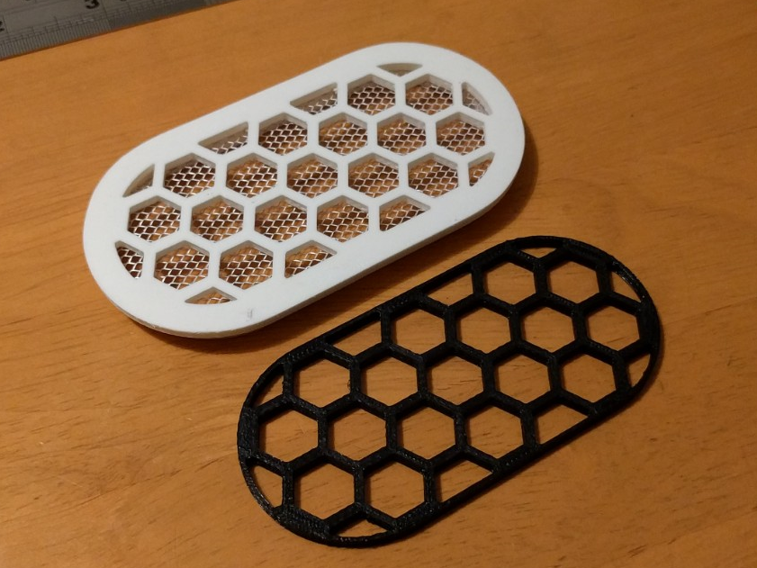 """vent2.png Télécharger fichier STL gratuit Grille de ventilation 100x50mm (4x2"""") • Objet imprimable en 3D, peaberry"""