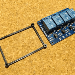 4rm_spacer.png Download free STL file 4 Relay Module PCB Spacer • 3D printing model, peaberry