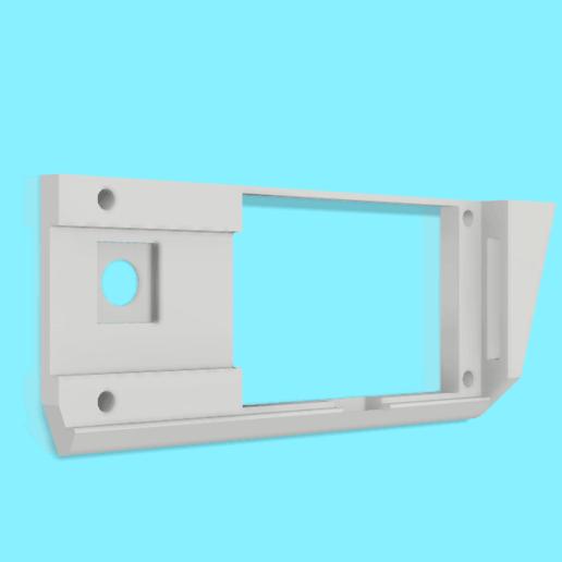 support carte lcd micro delta reworks back.png Download free STL file Lcd card holder for micro delta rework • 3D printable design, dglandry01