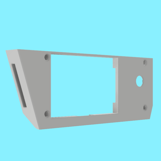 support carte lcd micro delta reworks front.png Download free STL file Lcd card holder for micro delta rework • 3D printable design, dglandry01