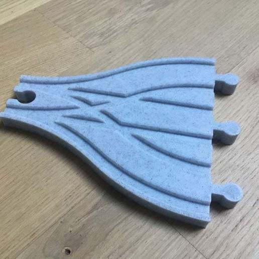 IMG_2624.jpg Télécharger fichier STL gratuit Aiguillage et croisement 3 voies pour train en bois (Brio, Ikea ...) • Modèle pour impression 3D, Locorico
