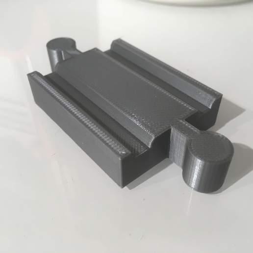 IMG_6571.jpg Télécharger fichier GCODE gratuit Piste de train en bois : Mini piste droite Homme Homme (Brio / Ikea ...) • Plan à imprimer en 3D, Locorico