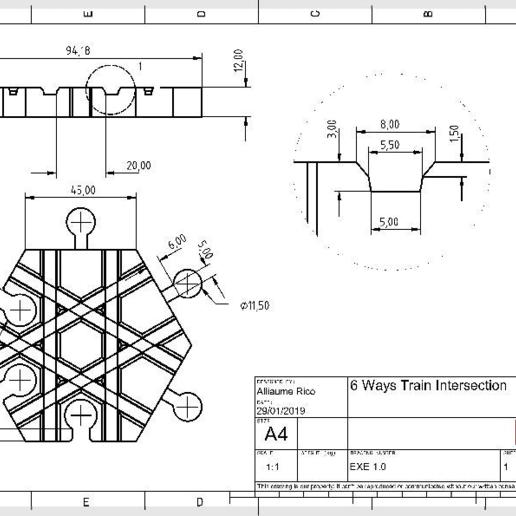 db0efbc43183a9143611f2f855203429.png Télécharger fichier GCODE gratuit Carrefour de voies ferrées en bois : 6 voies (Brio / Ikea ...) • Modèle pour imprimante 3D, Locorico