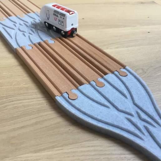 IMG_2621.jpg Télécharger fichier STL gratuit Aiguillage et croisement 3 voies pour train en bois (Brio, Ikea ...) • Modèle pour impression 3D, Locorico