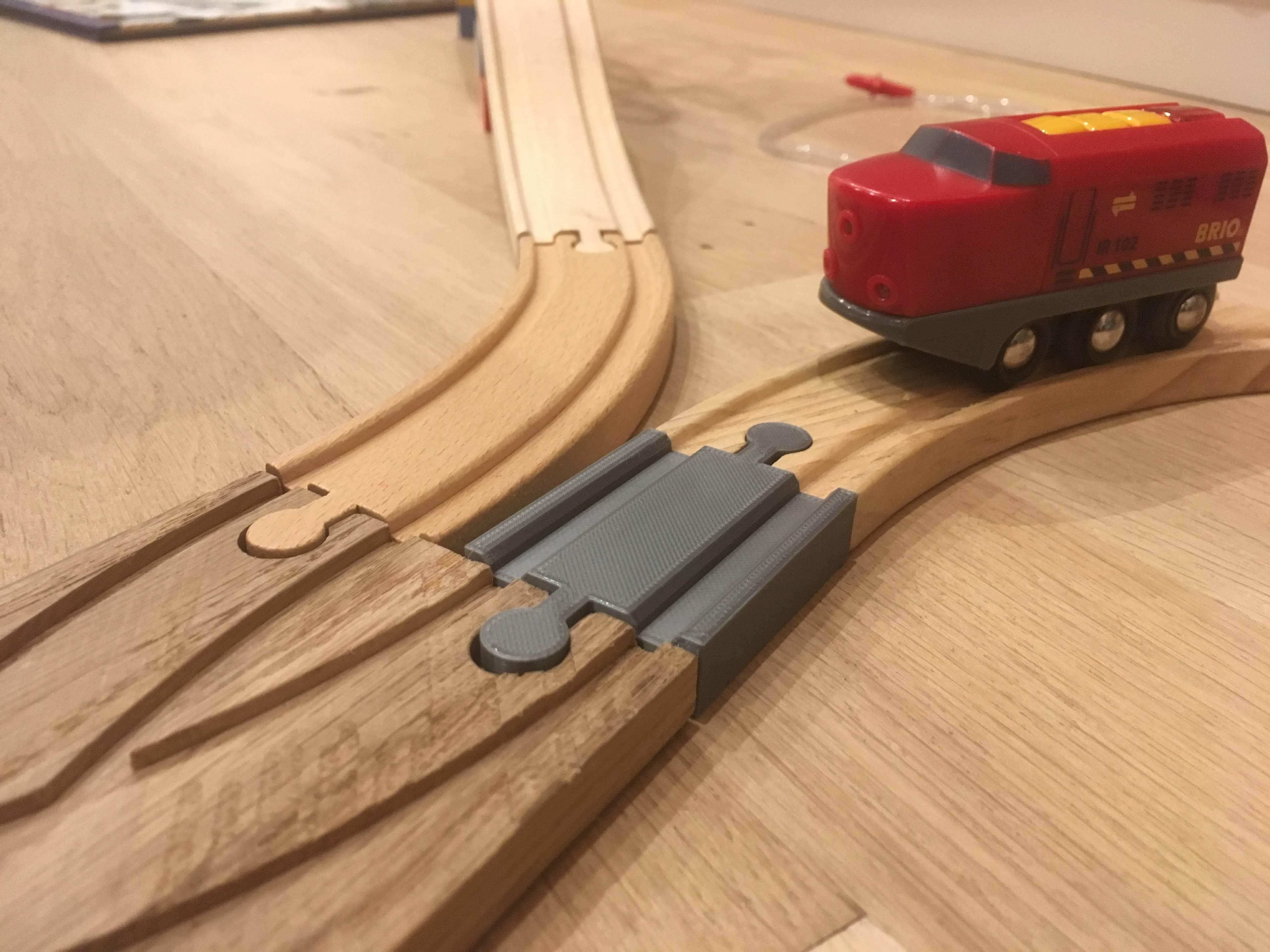 IMG_6572.jpg Télécharger fichier GCODE gratuit Piste de train en bois : Mini piste droite Homme Homme (Brio / Ikea ...) • Plan à imprimer en 3D, Locorico