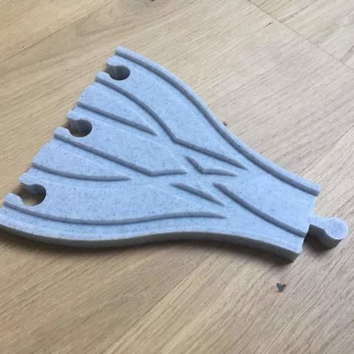 IMG_2622.jpg Télécharger fichier STL gratuit Aiguillage et croisement 3 voies pour train en bois (Brio, Ikea ...) • Modèle pour impression 3D, Locorico