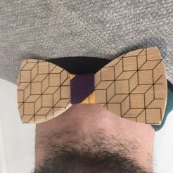 Download free STL file Wooden bow tie (CNC & Laser & Sewing), Locorico