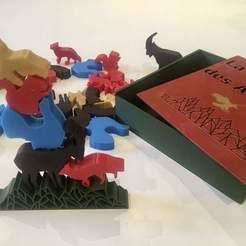 Download free STL file La montagne des animaux (With case) • 3D printer design, Locorico