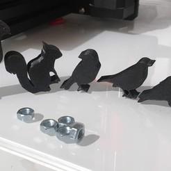 Télécharger fichier impression 3D gratuit Silhouette d'oiseau meeple, Locorico