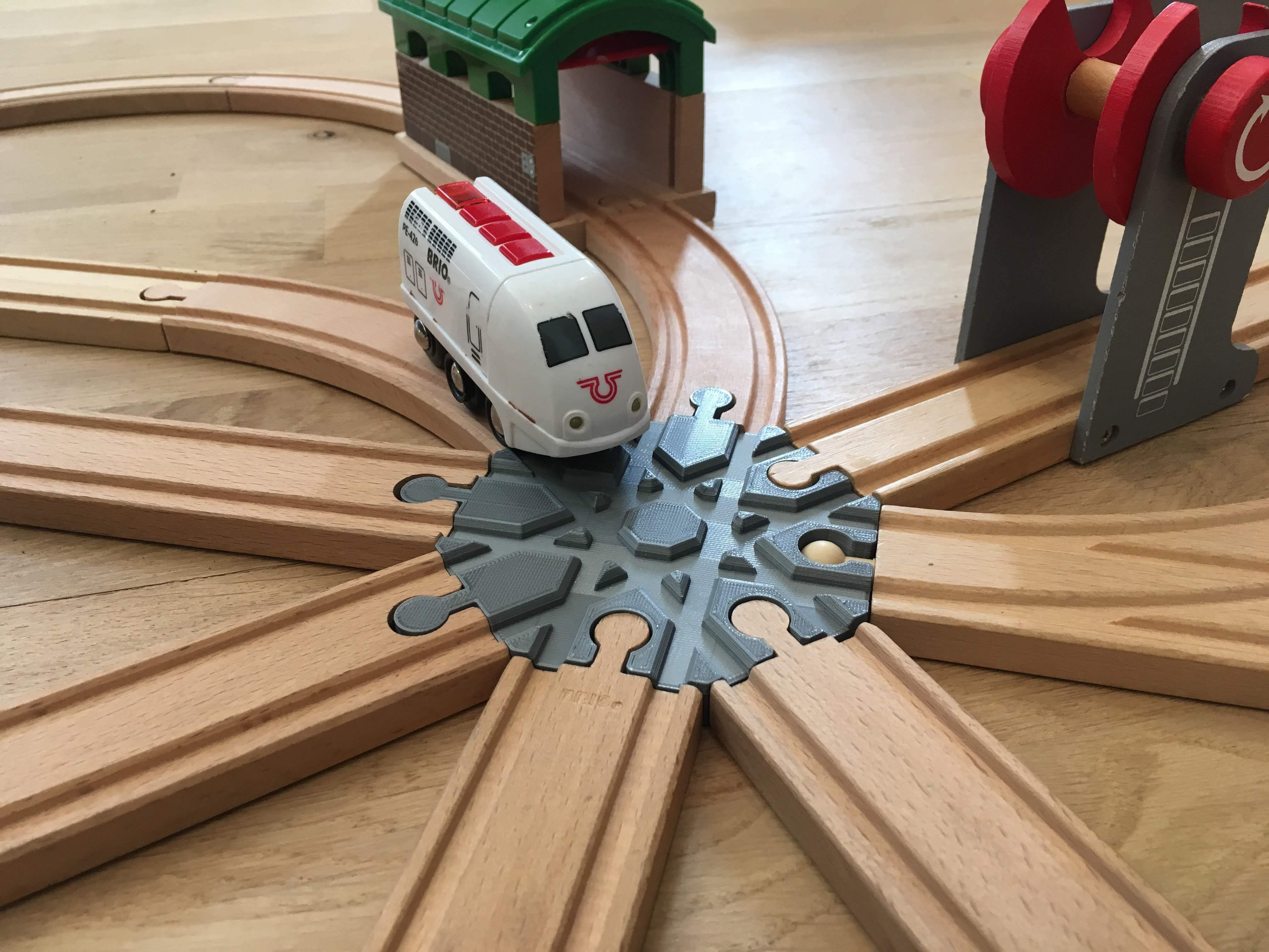 IMG_6547.jpg Télécharger fichier GCODE gratuit Carrefour de voies ferrées en bois : 8 voies (Brio / Ikea ...) • Modèle à imprimer en 3D, Locorico