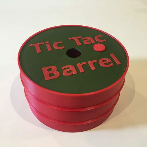 IMG_1697.jpg Download free STL file Tic Tac Barrel Game with case (Morpion barril with a box) • Design to 3D print, Locorico
