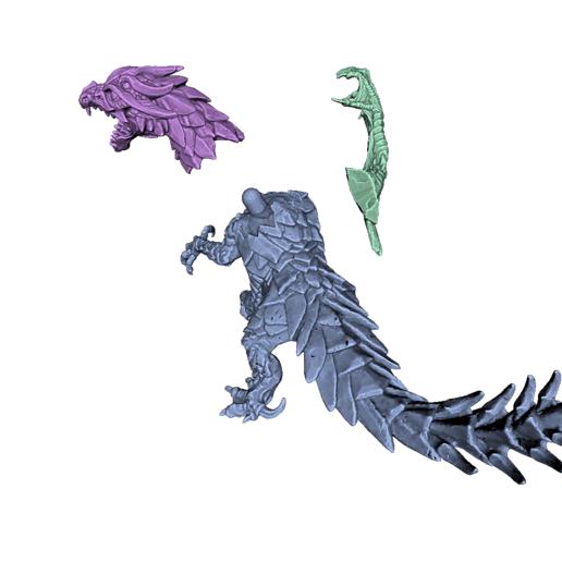 render02.png Download STL file Drakolisk (Variant 2) • 3D printing template, beldolor