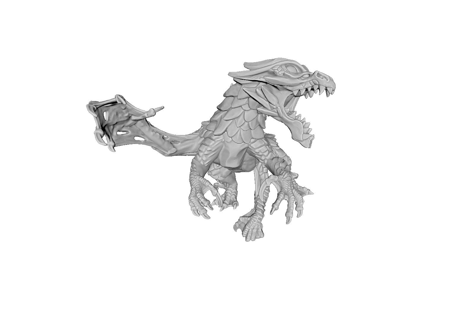 render06.png Download STL file Drakolisk (Variant 2) • 3D printing template, beldolor