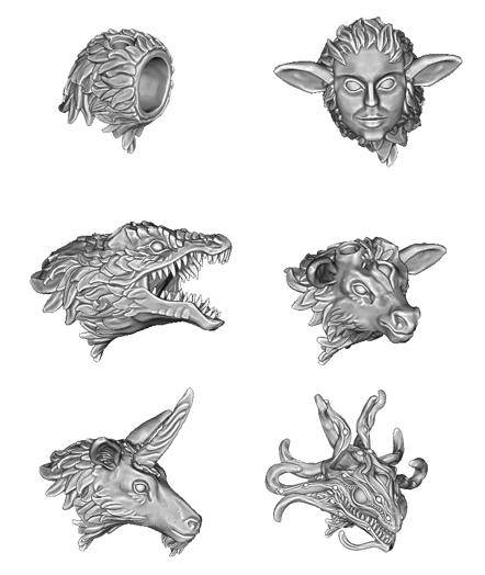 2020-11-11_13-59-21.png Download STL file The Deer Gods - The Other Deer Gods • 3D printable model, beldolor