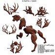 modular.jpg Download STL file The Deer Gods - The Complete Deer Gods • Template to 3D print, beldolor
