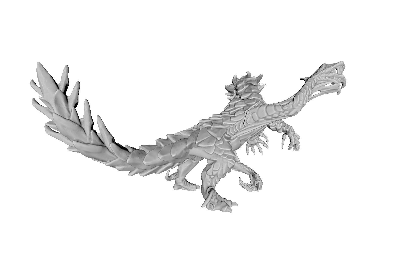 render03.png Download STL file Drakolisk (Variant 2) • 3D printing template, beldolor