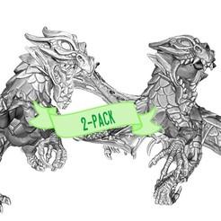 2-pack.jpg Télécharger fichier STL Drakolisk (Variantes 1&2) • Plan à imprimer en 3D, beldolor